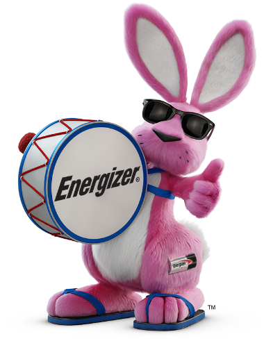 Energizer Bunny with drums showing the thumbs up