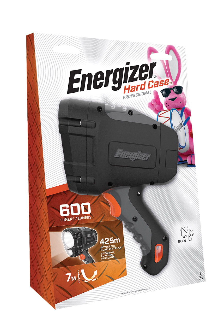 a package of the Energizer HardCase Spotlight