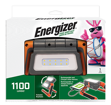 a package of the Energizer Rechargeable Panel Work Area Light
