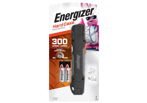 a package of the Energizer HardCase Professional Task Flashlight