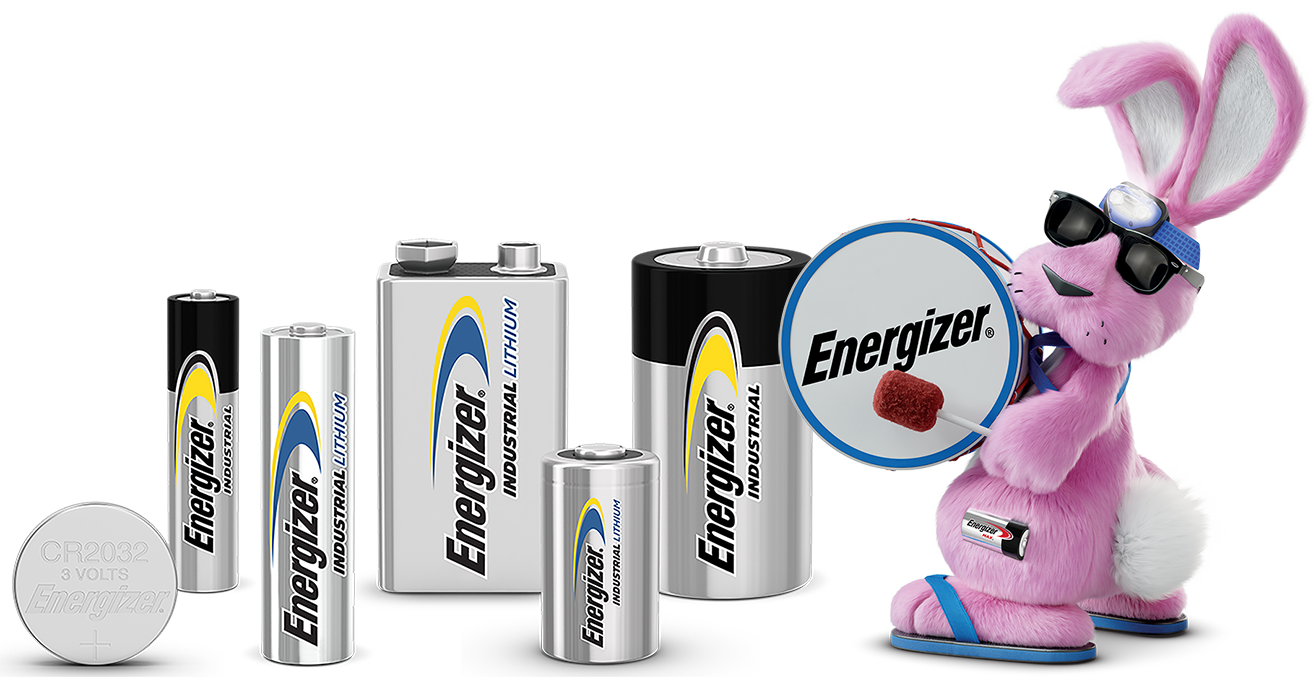 Energizer Bunny with Alkaline and Lithium Batteries